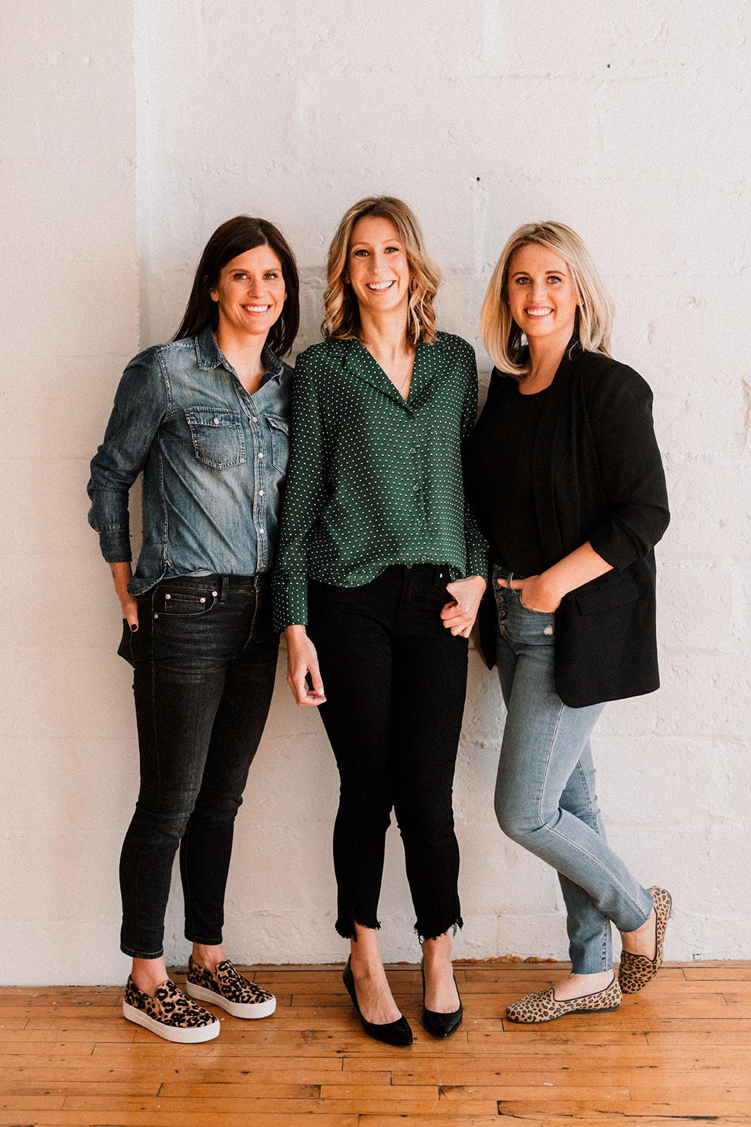 The Indie Queen team members: Chelsea Henderson, Lyndsey Macmillan, Sarah Baker